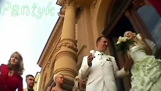 Wedding day bride upskirt