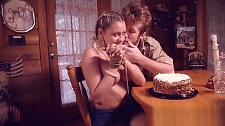 Stacked blonde teen Marsha May gets tied and forced to give blowjob