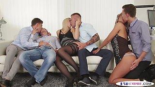 Bi studs enjoy dickriding in group