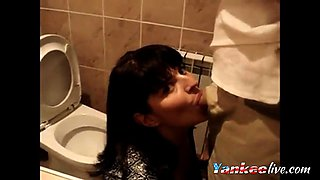 Blowjob in a party Bathroom