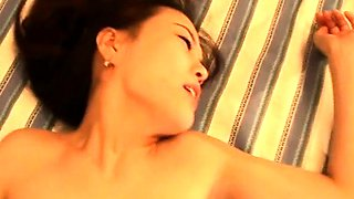 Cute Asian babe with perky tits gets fucked and facialized