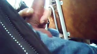 Wanking my dick on the bus with a couple of ladies