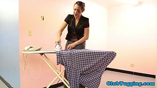 CFNM housewife jerking off