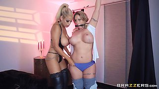 Bridgette B and Eva Notty want to make a guy's cock hard