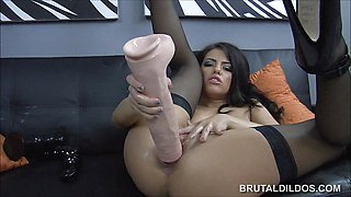 Sexy Adriana Chechik toys her ass