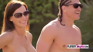 Tennis courts steam up when horny couple joins them