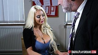Nicolette Shea seduces a handsome man for a sexual adventure