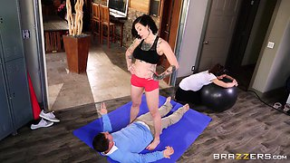 Yoga teacher Harlow Harrison seduces another girl's man in front of her