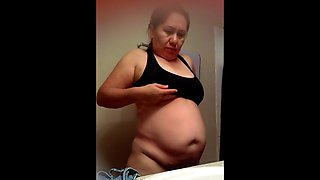 chubby mexican mom - hidden bathroom cam (fixed)