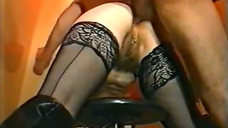 Busty mature white whore gives head to start anal sex action