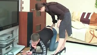Russian irina forced to fuck her
