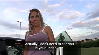 PublicAgent Innocent blonde fucks in car park