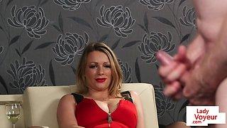 CFNM voyeur MILF dirty talking during JOI