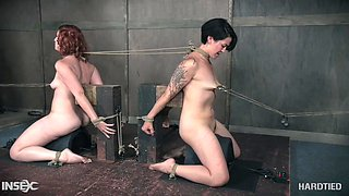 two bad girls punished at once