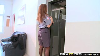 Brazzers - Big Tits In Uniform - Going Down scene starring Roberta Gemma and Nick Lang