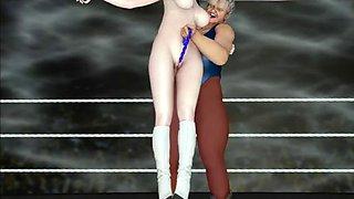 3d lesbian wrestling