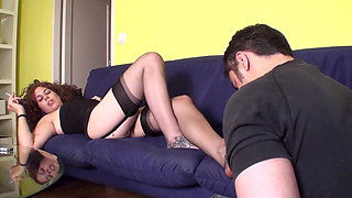 Young Femdoms dominate and humiliate slaves