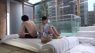 Amazing erotic experience for a shy Japanese brunette