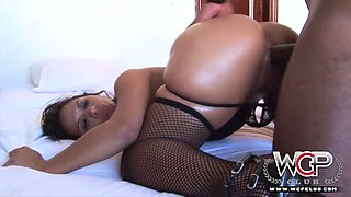 Bootylicious extremely horny brunette gets analfucked by black hunk