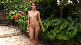 Wild and free nympho Ariela is happy to masturbate her wet pussy outdoors