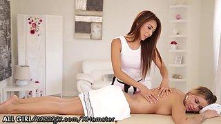 Ayumi Anime Lesbian Licking Massage with Jessa Rhodes