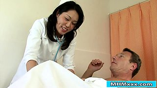 Asian nurse banged by her patients