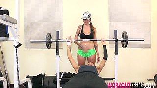 Callie Fucked Hard For Gym Membership