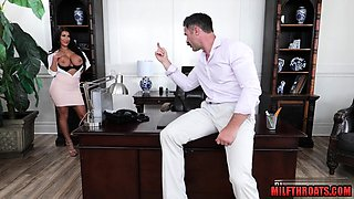 Asian milf office fuck with facial