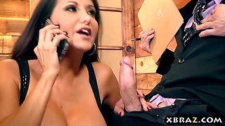 Huge boobs housewife cheating on her absent husband