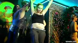 Hot ass damsel twerking seductively in the club casting