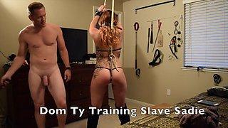 slave gets punished for being bad