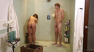 soapy handjob in the shower