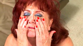 Hairy redhead granny analyzed