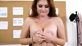 Hot Redhead Lennox Luxe Enjoys Schlong Of Boss