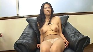 Japanese busty housewife groped by old man