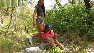 Lesbian Sisters Pee on Each Other