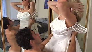 Wild dominant future wife makes her submissive groom lick her holes