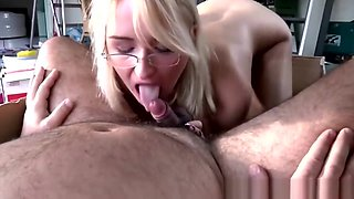 Chubby Old Crook Fucks A Blonde Secretary In A Messy Office