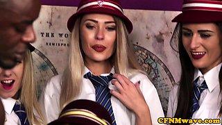 Ebony cfnm schoolgirl blows bbc till cumshot