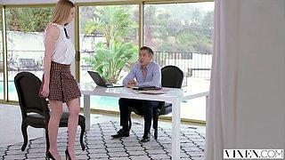 kinky secretary gets spanked by her boss