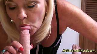 Ms Paris Rose sucking cock