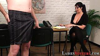 Busty cfnm boss mistress