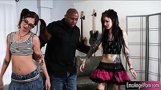 Two emo sluts Kaci Castle and Kelsi Lynn fucked on turns