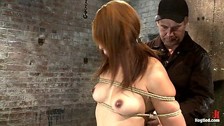 Hot Japanese Girl In Traditional Japanese Tie.Sounds Just Like Anime When She Cums, True Story. - HogTied