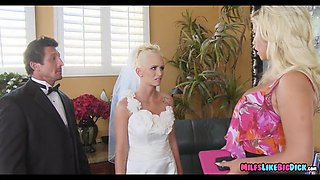 milf teaches her on wedding day