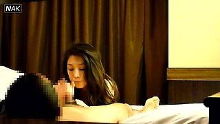 Beautiful Korean babe enjoys a wild sex action on hidden cam