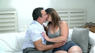 Plump hottie Montse Swinger is making love with her handsome man