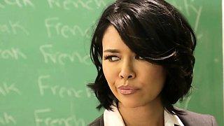 Asian teacher toys lez