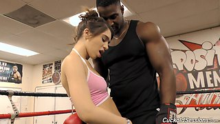 Joseline Kelly cannot resist a black boxer's massive boner