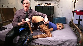 Quite buxom cutie with braids Janice Griffith works on strong sloppy cock